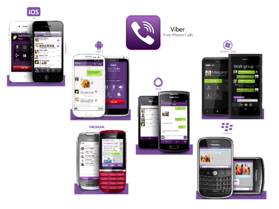 Viber users could be anywhere in the world if they are connected to internet. Viber and all its basic features are completely free.